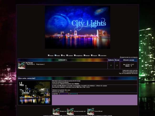 City lights theme .