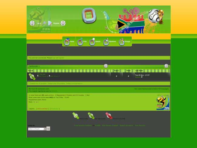 Fix for Green World Cup 2010 Theme