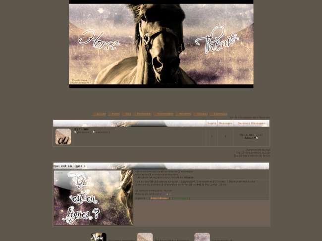 Horse thème