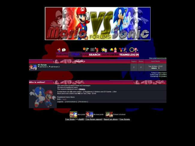Mario vs. sonic dark