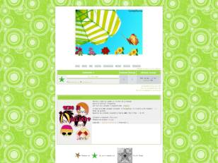 Girlsworld green theme