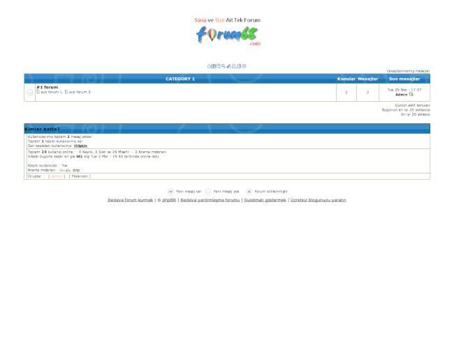 Destek Yetkinforum Phbb2 Teması