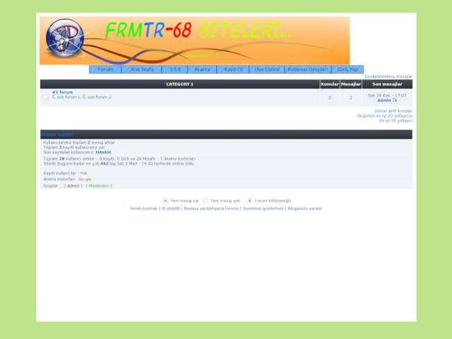 Forum68 Phbb2 Siyah Teması