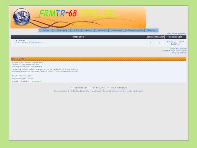 Forum68 Turuncu Gri Süper Bir Tema