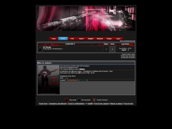 Underground red cs theme