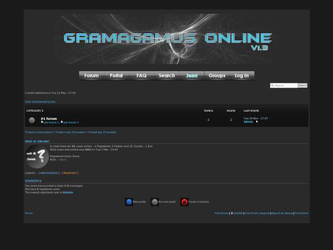 Gramagamus Online GreyBlue