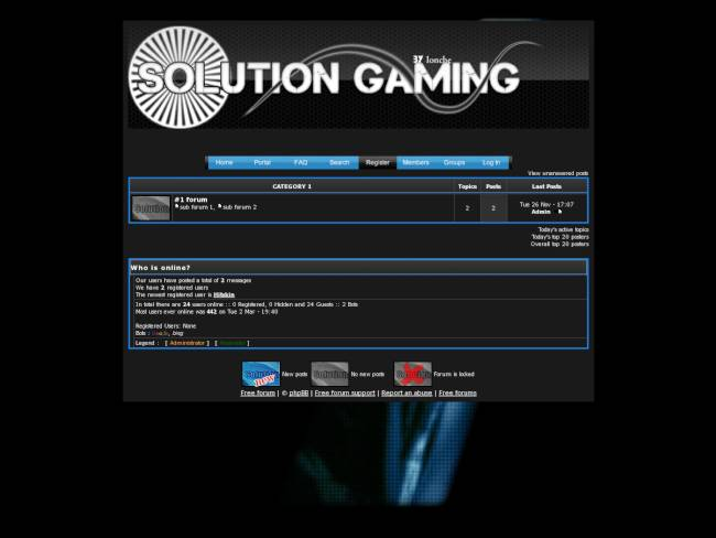 Solution Gaming Theme