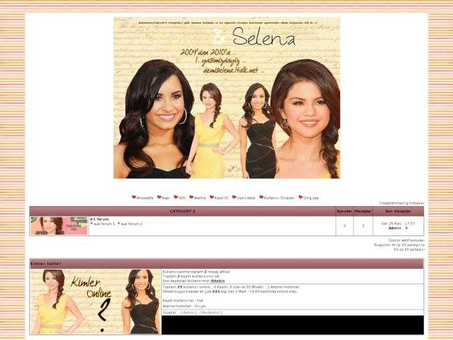 Demi Lovato&Selena Gomez Fan Sitesi ~2009'dan beri =)