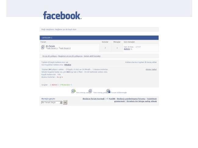 Facebook temamız hayır...