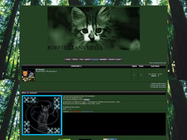 Forest cats-green
