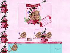 Rose bonbon cookie