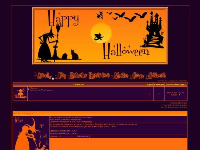 happy halloween et sorciere