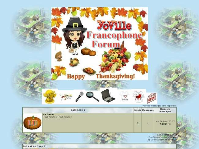 Yoville thanksgiving 2010