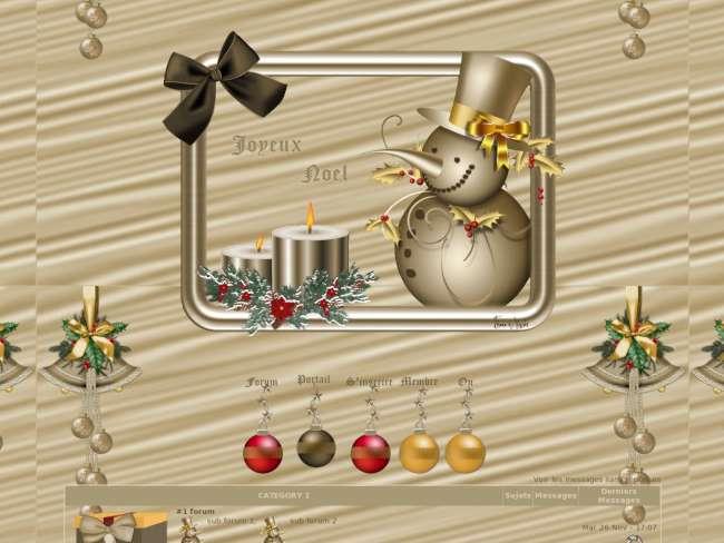 Noel dore 2 avec portail