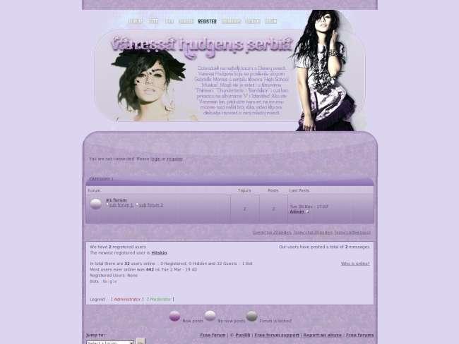 Vanessa hudgens violet