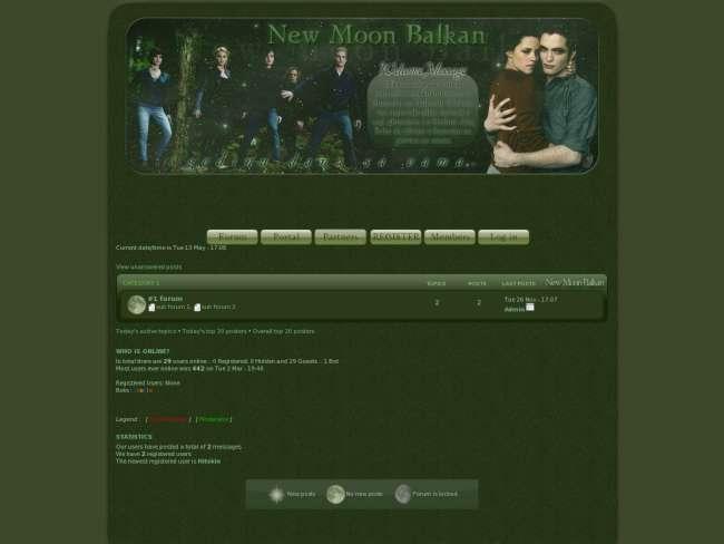 New moon balkan