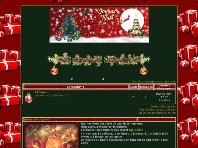 Noel en rouge et vert ...