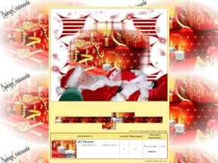Noel rouge et doré