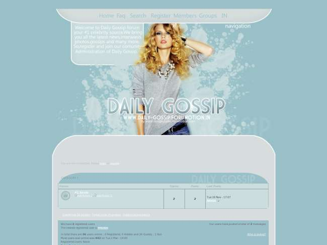 Daily gossip forum