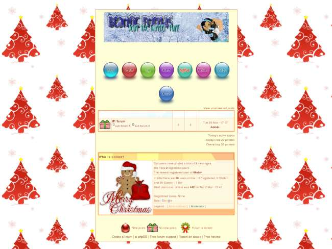 Bearific Friends XMAS Theme