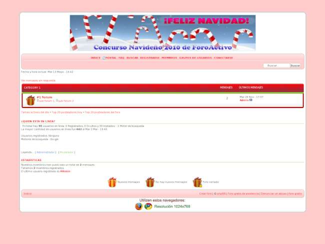 Concurso Navideño 2010 de Foro Activo