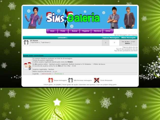 Sims galeria natal por...