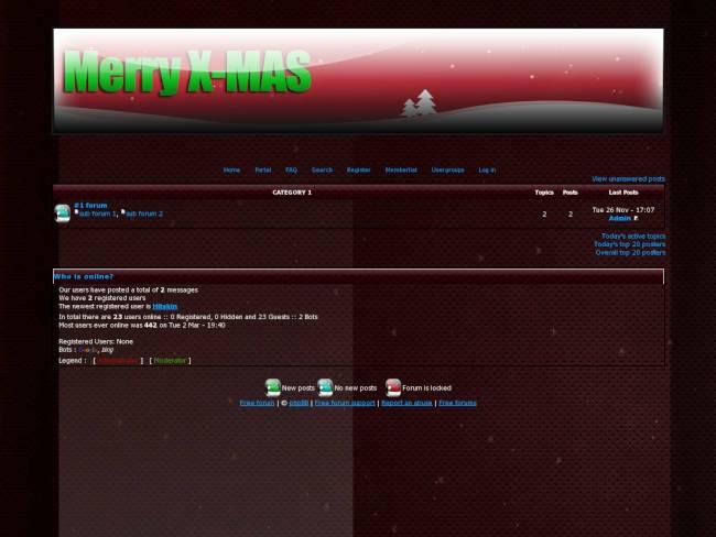 christmas dark red theme