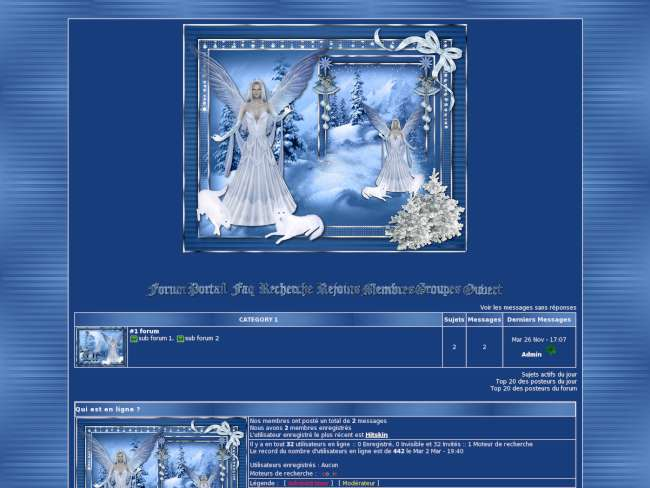 Christmas blue faerie 2