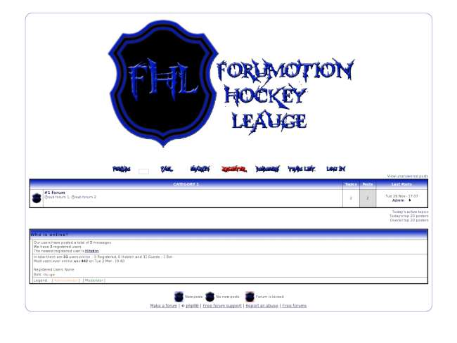 FHL (Forumotion Hockey League)