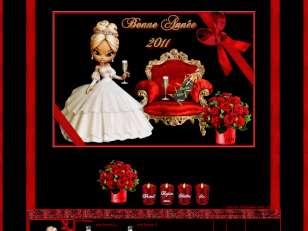 nouvel an rouge et noir
