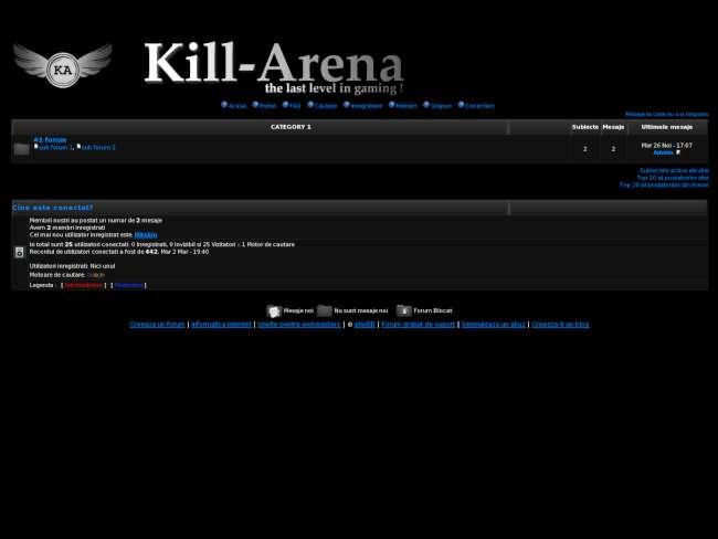 Kill-arena community*
