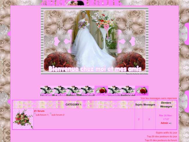 La mariee fleuri