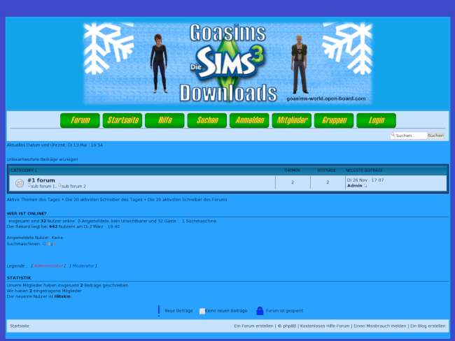 Goasims Sims 3 Winter-Style