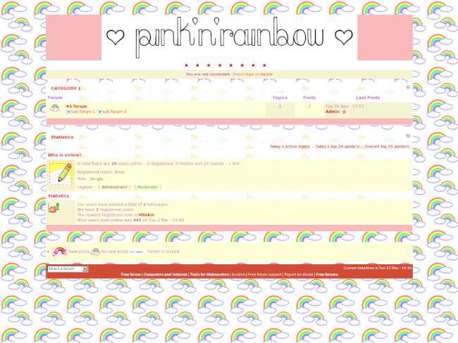 Pink 'n' rainbows