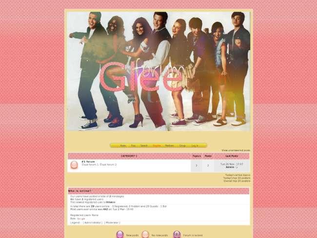 Glee forum skin by wwi...