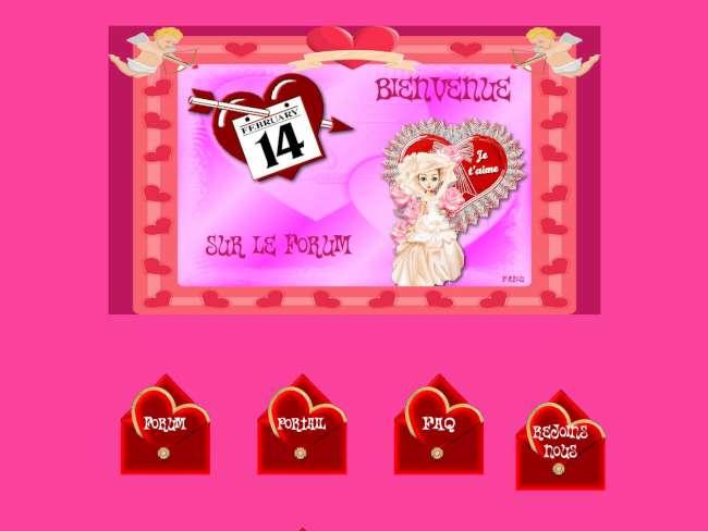 Saint valentin rouge