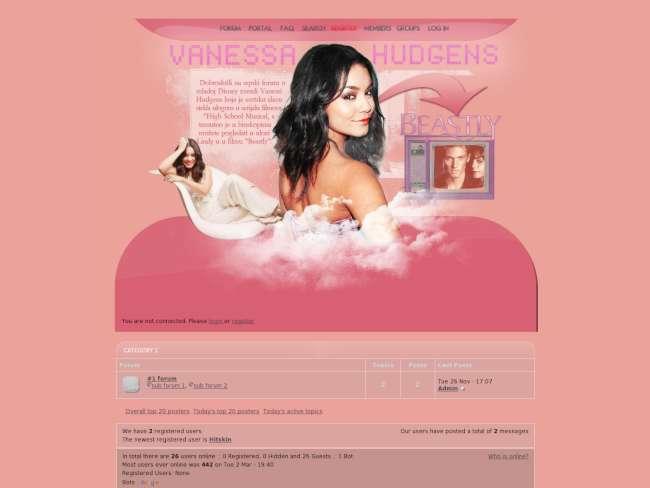 Vanessa hudgens pink