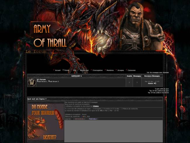 WOW : Guilde army of Trall