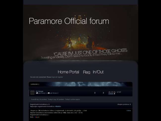 Paramore Official forum skin