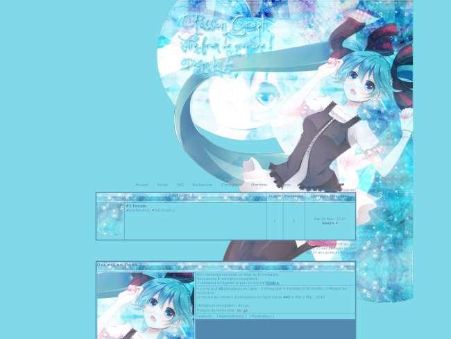 Vocaloid miku blue
