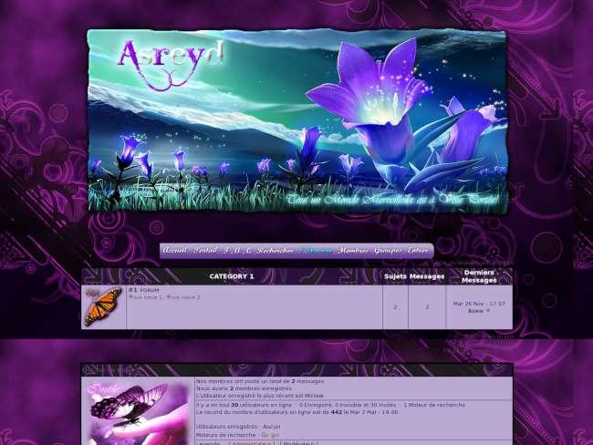 Asreyd, thème violet