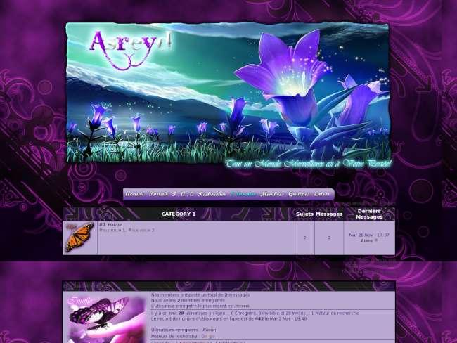 Asreyd, thème violet *...