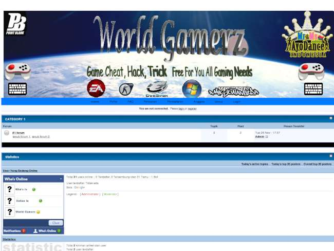 World GamerZ Theme 1st