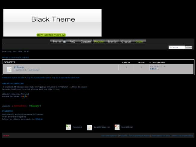 Black the simple theme