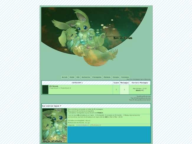 Green eevee - pokémon