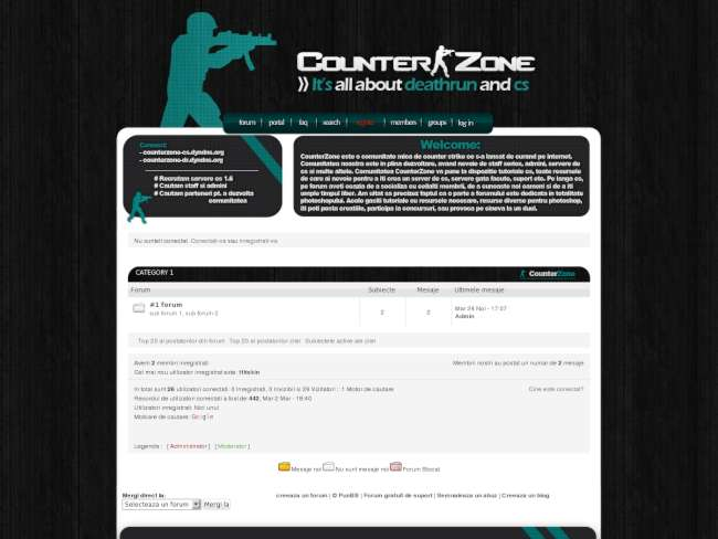 Counterzone cyan theme