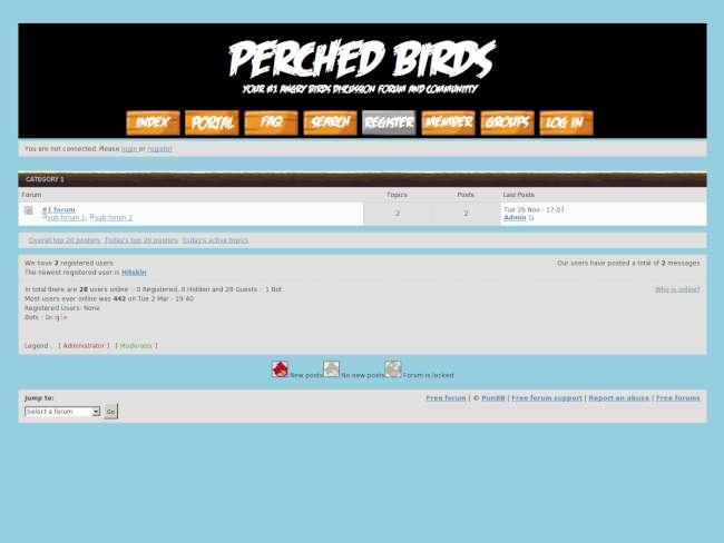 Angry birds forum them...
