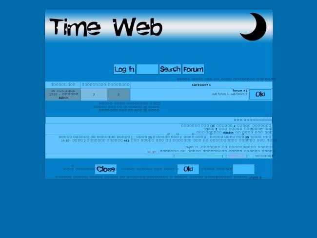 Time web | blue style v4