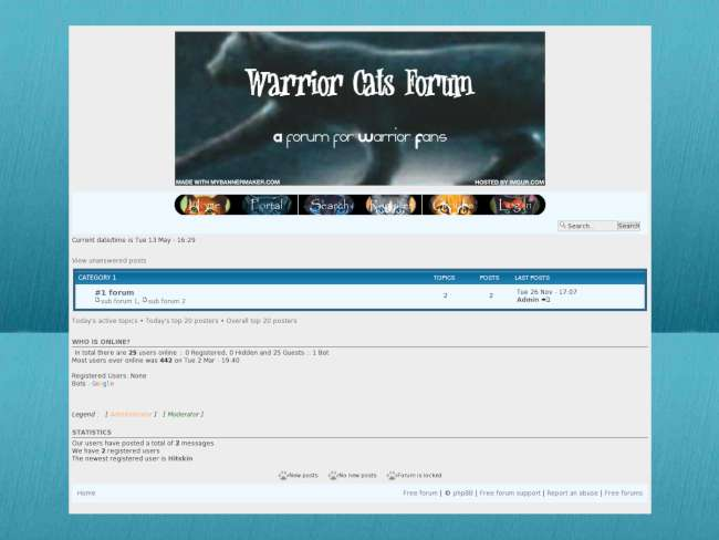 Warrior cats forum skin