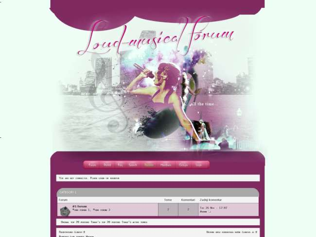 Loud musical forum